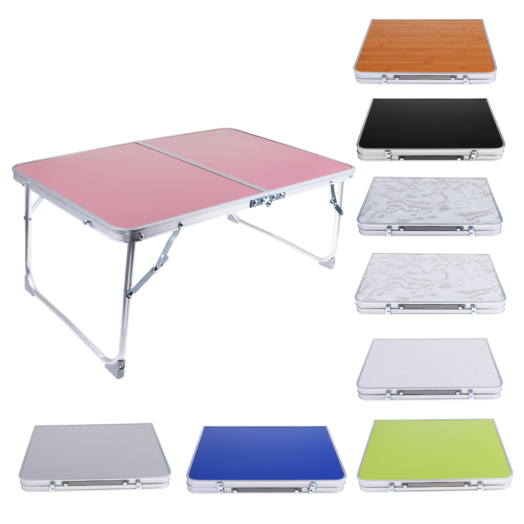 Aluminum Camping Folding Table Breakfast Serving Bed Tray Portable Picnic Table For Camping Hiking Outdoor Tools