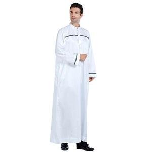 Image 3 - Männer Saudi Arabischen Männer Robe Dishdasha Thoub Moslemische Kleidung Langarm Kaftan Abaya Dubai Nahen Osten Islamischen Jubba Thobe Kleid neue