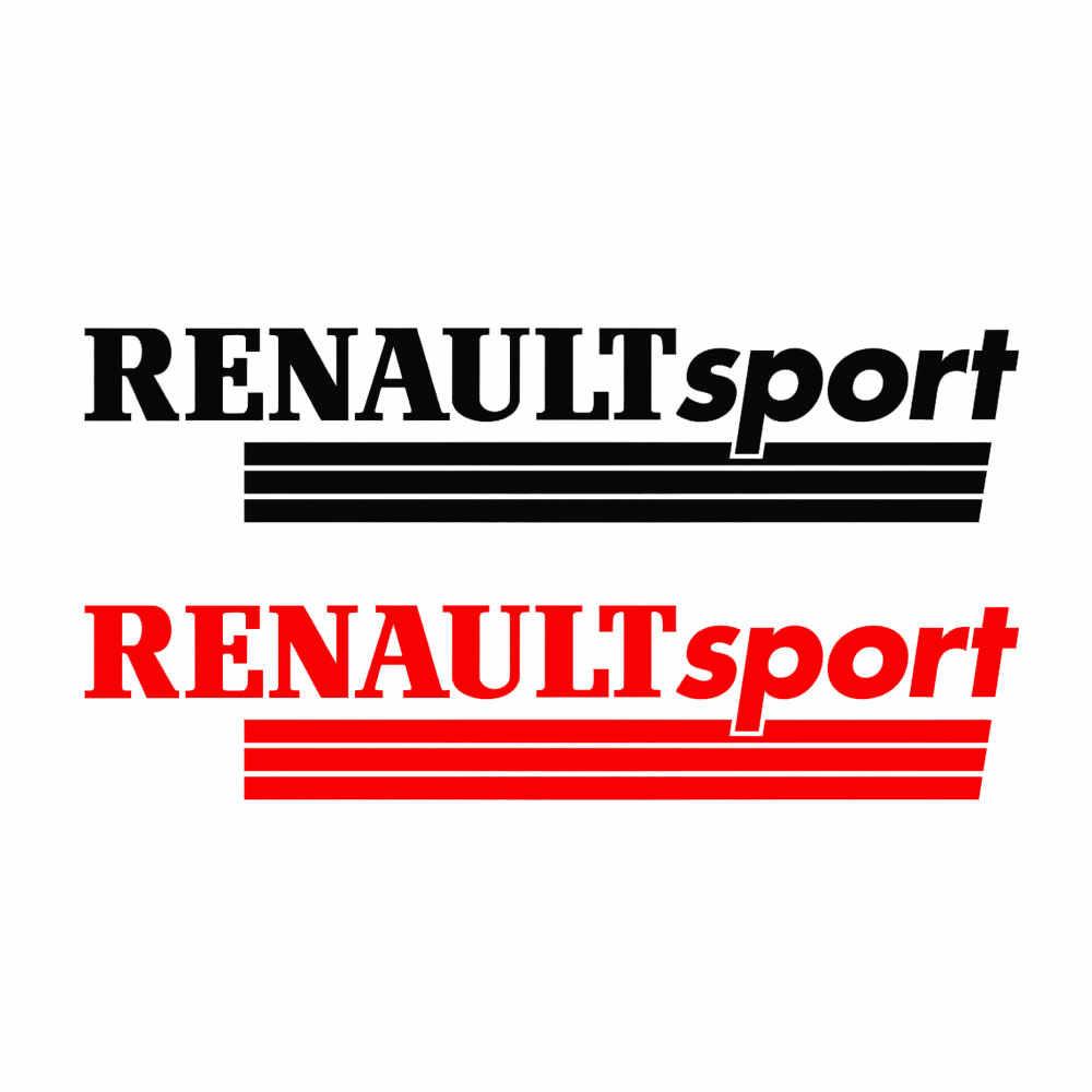 2x RENAULT sport naklejka winylowa tablica naścienna do lusterka wstecznego Laguna Megane Clio tu-887975