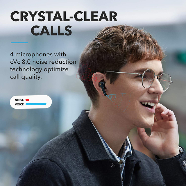 Anker Soundcore Life P2 TWS True Wireless Earphones with 4 Microphones, CVC 8.0 Noise Reduction, 40H Playtime, IPX7 Waterproof 2