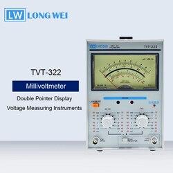 TVT-322 Dubbele Pointer Display Hoge Precisie Ac Millivoltmeter Spanning Meetinstrumenten Meten Frequentie 5Hz-1 Mhz