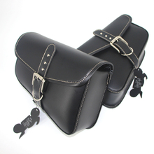 Motorcycle Bag PU Leather Saddlebags For Harley Swingarm Bag Sportster XL883 XL1200XL 883 1200 Saddle Left Right Side Tool Bags bjmoto brown motorcycle pu leather left right side saddlebag saddle bag luggage bag tool bags storage for harley sportster