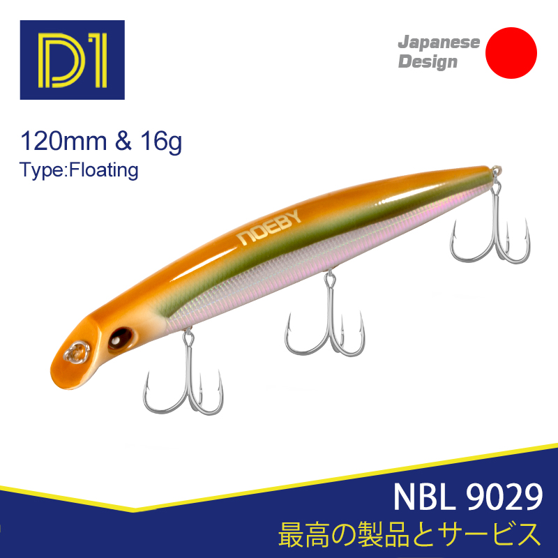 Noeby NBL9029 Minnow Fishing Sasuke Lure 120mm/150mm Floating 0-1.2m Wobblers Hard Saltwater Fishing Lures Fishing For Sea Bass
