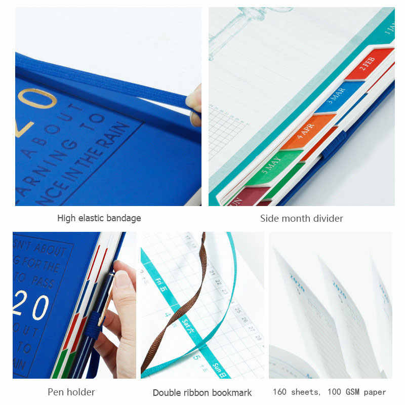 Bullet Journal Notebook Leather Sketchbook Notepads Weekly Planner Diary Agenda 2020 Planner A5 Канцтовары bts kpop papelaria