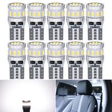 10 sztuk T10 W5W LED żarówki Canbus dla samochodów Parking pozycja światła wewnętrzna lampka dla BMW VW Mercedes Audi A3 8P A4 6B BMW E60 E90 tanie tanio LARATH Światło kopuły 320Lm T10 (W5W 194) 12 v C6500 Topkick 1997 1998 1999 2000 2001 2002 2003 2004 2005 2006 2007 2008