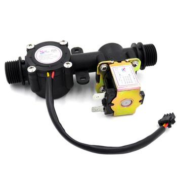 Zawór elektromagnetyczny zawór wody czujnik przepływu urządzenia do kontroli wody miernik przepływu czujnik przepływu wody przepływomierz Hall sensor czujnik przepływu G1 2 rury średnica tanie i dobre opinie WAYSEAR Hydraulika Mężczyzna Npt 1 2 range 1-30L MIN YF-S201 flowmeter filling liquid machine liquid control flow meter