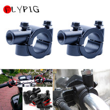 "1 ""25mm รถจักรยานยนต์ 10mm Handlebar Mirror Mount Black สำหรับ arley-Davidson Heritage Springer (China)"