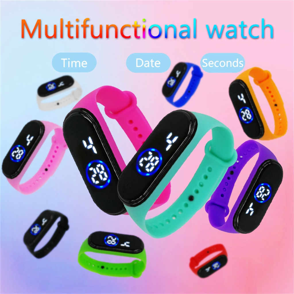 Nueva moda reloj electrónico 50M resistente al agua LED digital impermeable de deportes reloj de silicona reloj de pulsera часы мужские50%
