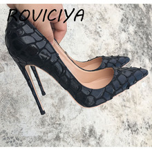 12cm Shoes Sexy Womens Black High Heel Shoes