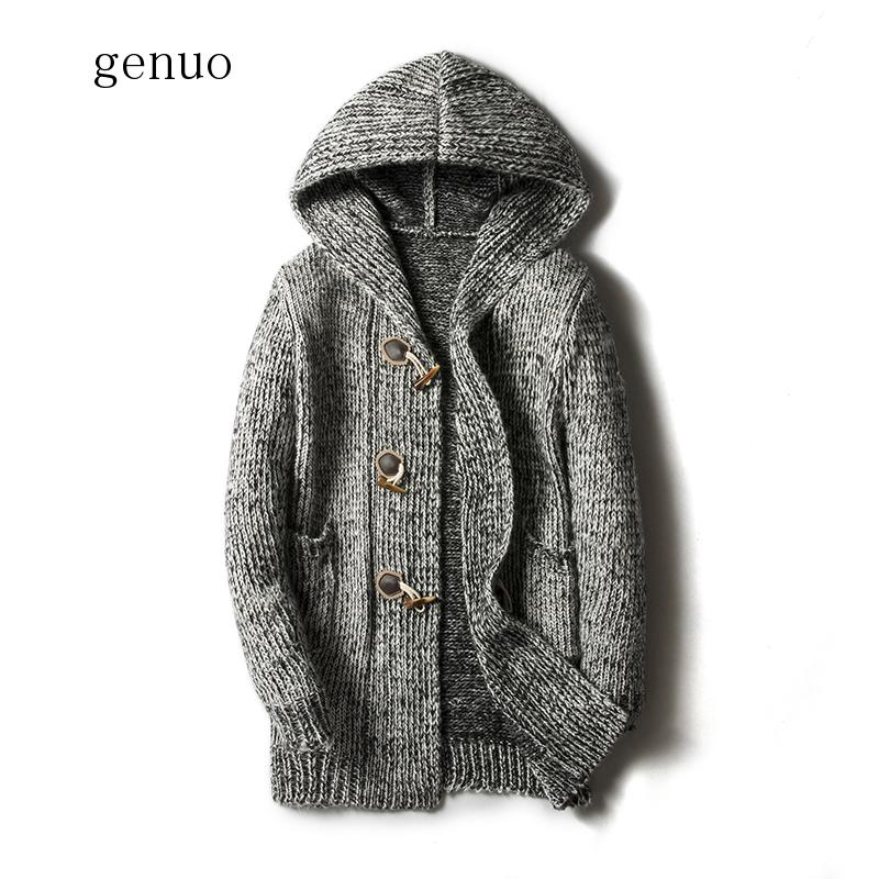Next Outlet Men`s Cardigan Hood Grey Knit Jacket Size Small