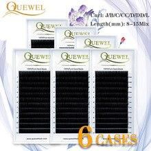Fauks Mink Eyelash Extension Makeup Russia Volume Silk Lash Cilios Natural 6 Trays Lashes Individual Eyelashes 8-15Mix Hand Made