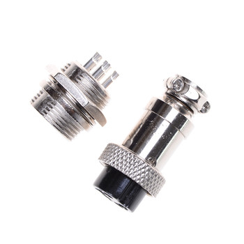 ZLinKJ 1Pair GX16 2/3//5/6/7/8 Pin 16MM Male & Female Wire Panel Connector Circular Aviation Connector Socket Plug image