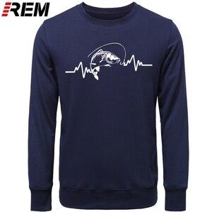 Image 3 - REM Hoodies sıcak giyim pamuk erkekler yüksek kaliteli kalp atışı sazan balıkçı fener yem Hoodies, tişörtü