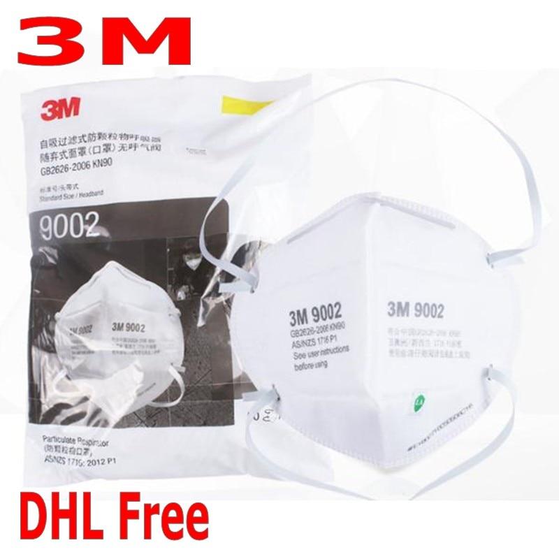 DHL Free 3M 9002V Mask KN90 Safety Protective FFP2 FFP3 N95 Dust Masks Anti-PM 2.5 Sanitary Working Respirator Safety Mask