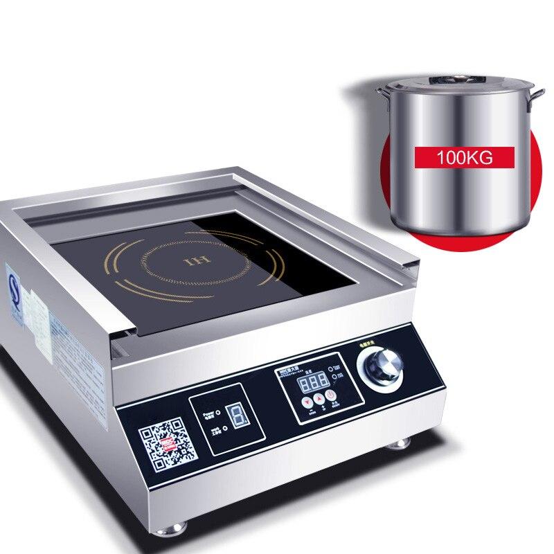 Коммерческая индукционная плита 5000 Вт самолет Высокая мощность суп тушеная лапша плита Коммерческая электрическая плита ресторан столовая 380В 3