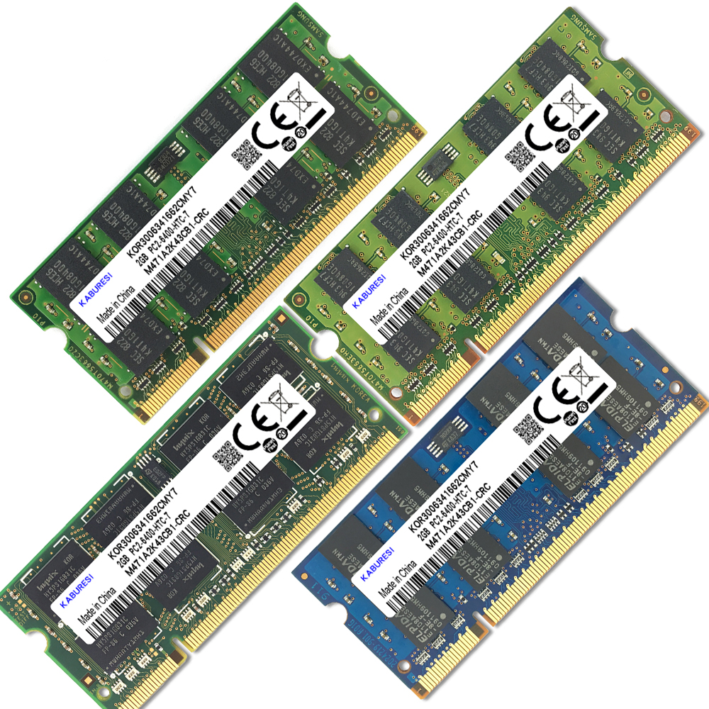 KABURESI DDR2 Laptop Memory With 2x Dual-channel PC2-6400 PC2-5300 Notebook 4