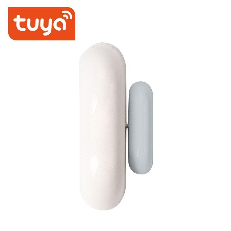 Tuya умный дом дверь окно контакт сенсор WiFi приложение уведомления оповещения батарея работает с IFTTT Alexa Google