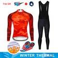 Moxilyn 冬の熱フリースサイクリング服 MTB 自転車服サイクリングジャージセットマイヨ Ropa Ciclismo Invierno
