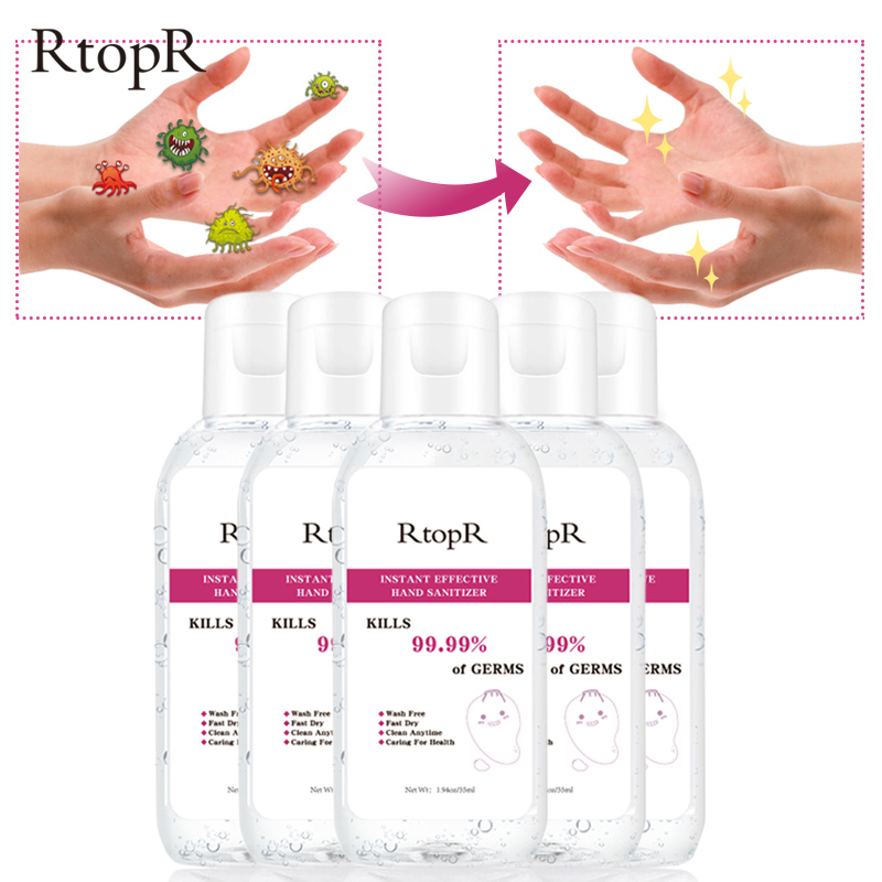 Portable 99.9% Antibacterial Hand Sanitizer Disposable Disinfectant Gel 75% Bacteriostatic Gel Hand Sanitizer Wipe Out Bacteria