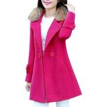 Осенняя однотонная верхняя одежда, пальто оверсайз, повседневный Тренч, Повседневная Женская приталенная куртка средней и длинной длины, зимнее шерстяное плотное пальто
