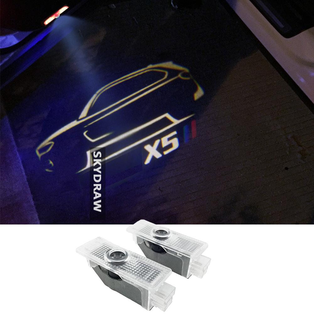 Light-Projector Welcome-Light Warning X5 E70 2piece Ghost-Shadow-Light 2007 BMW for F15