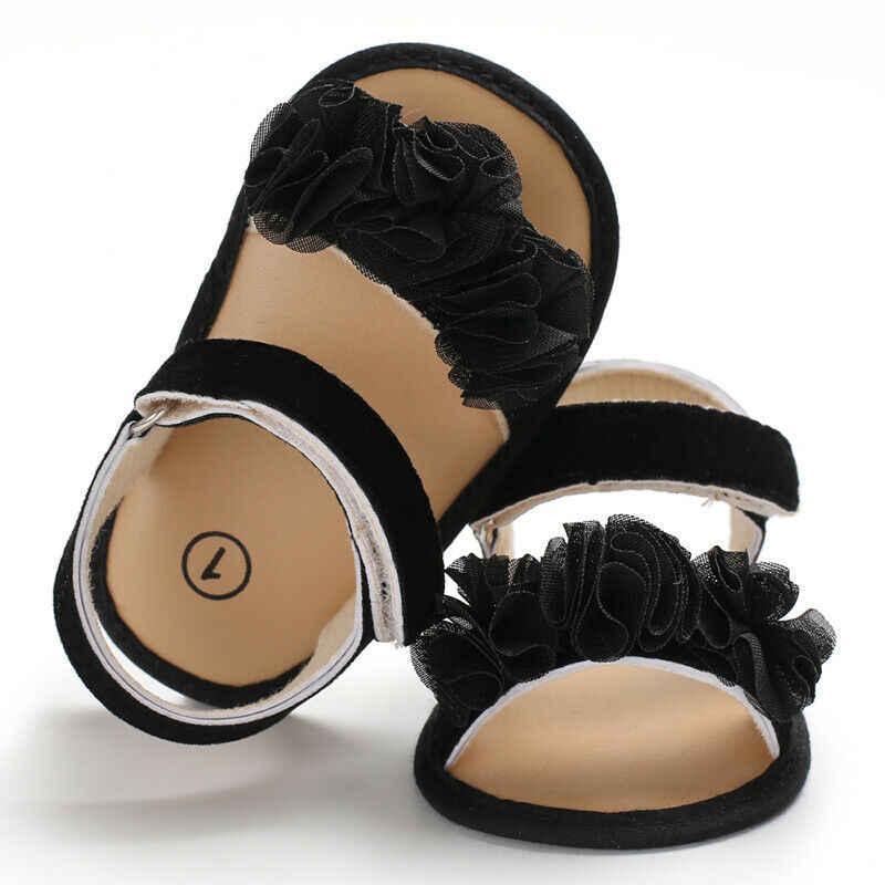Kinderen Zomer Klompen 0-18M Pasgeboren Baby Baby Meisje Prinses Bloemen Sandalen Sneakers Peuter Zachte Crib Wandelaars Schoenen