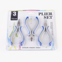DIY Jewelry Tool Sets, Pliers, Mixed Color, 110~125x70mm