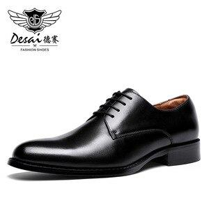 Image 2 - Desai couro genuíno vermelho sapatos masculinos sapatos de negócios para homem marca calçados masculinos sapatos casuais clássico 2019
