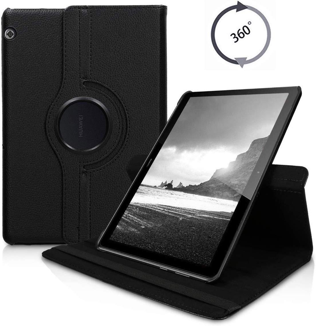 360 градусов вращающийся Флип из искусственной кожи чехол для huawei MediaPad T5 10,1 дюймов AGS2-W09/L09/L03/W19 чехол s Smart Tablet Cover