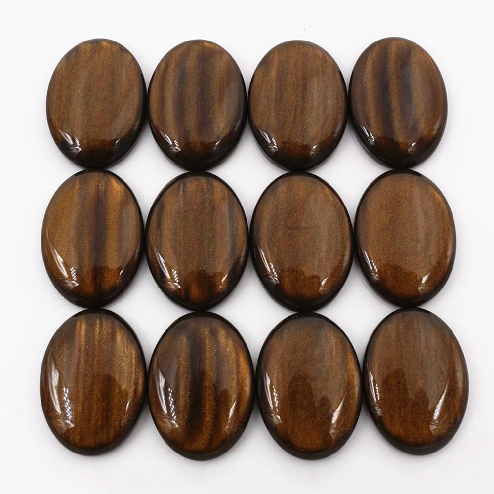 New Fashion 10pcs 18x25mm Amber Color Flat Back Resin Cabochons Cameo  G7-07