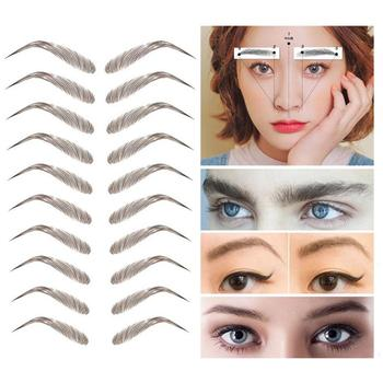3 Style 4D Water-based Eyebrow Stickers Semi-permanent Tattoo Eyebrow Waterproof Lasting Brow sticker bionic brow stickers TSLM1