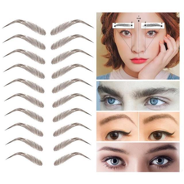 9 Style 4D Eyebrow Stickers Semi-permanent Tattoo Eyebrow Waterproof Lasting water transfer imitation bionic brow stickers TSLM1 2