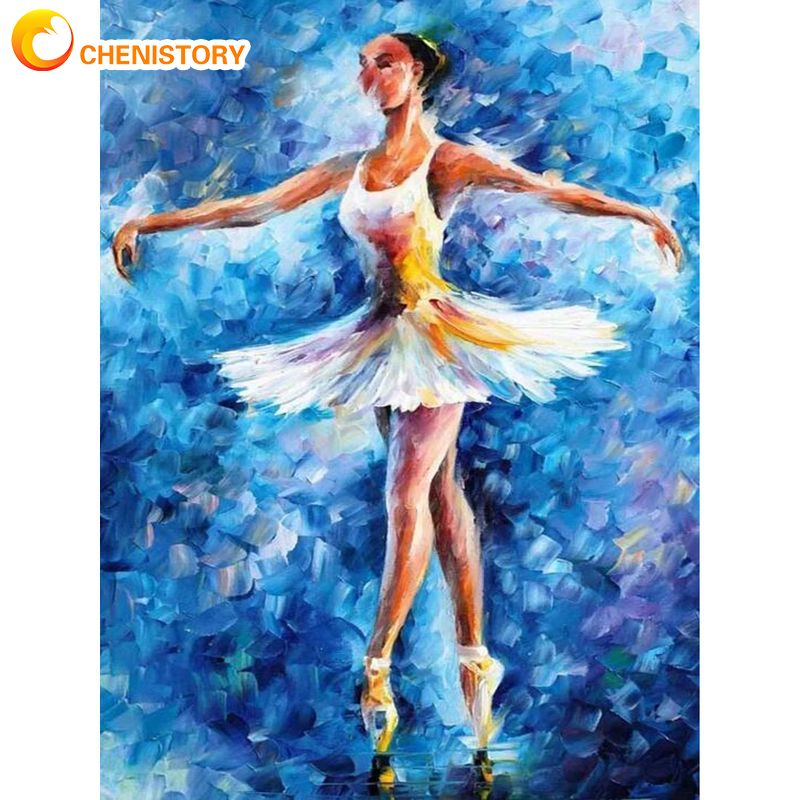 Купить chenistory краска ing по номерам для взрослых балетная танцовщица