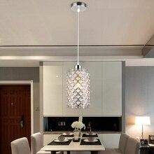Moderne Kristallen Plafond Lampen Chroom/Goud Plafondlamp Lustre Opknoping Lamp Loft Voor Keuken Eettafel Lamp Verlichtingsarmaturen