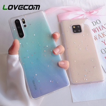 LOVECOM Glitter Star Clear Phone Case For Huawei