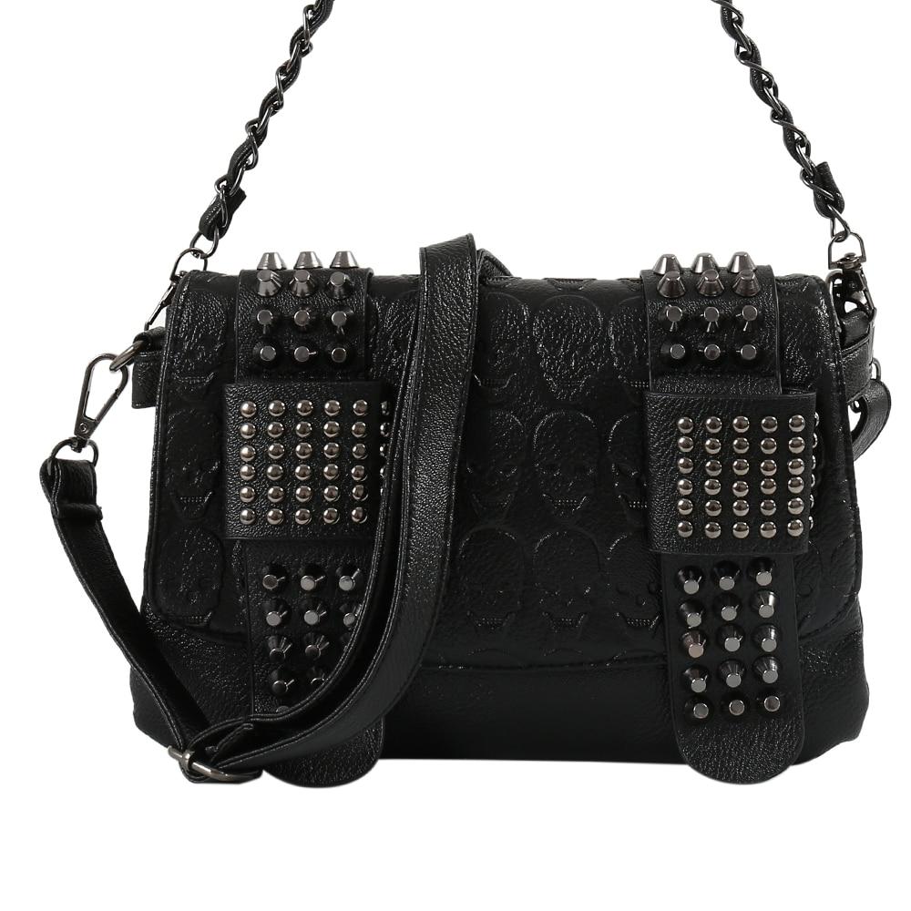 Luxury Evening Shiny Clutch Purse Vintage Leather Messenger Rivets Shoulder Handbags Bolsas Wallets Ladies Wedding Women Bag