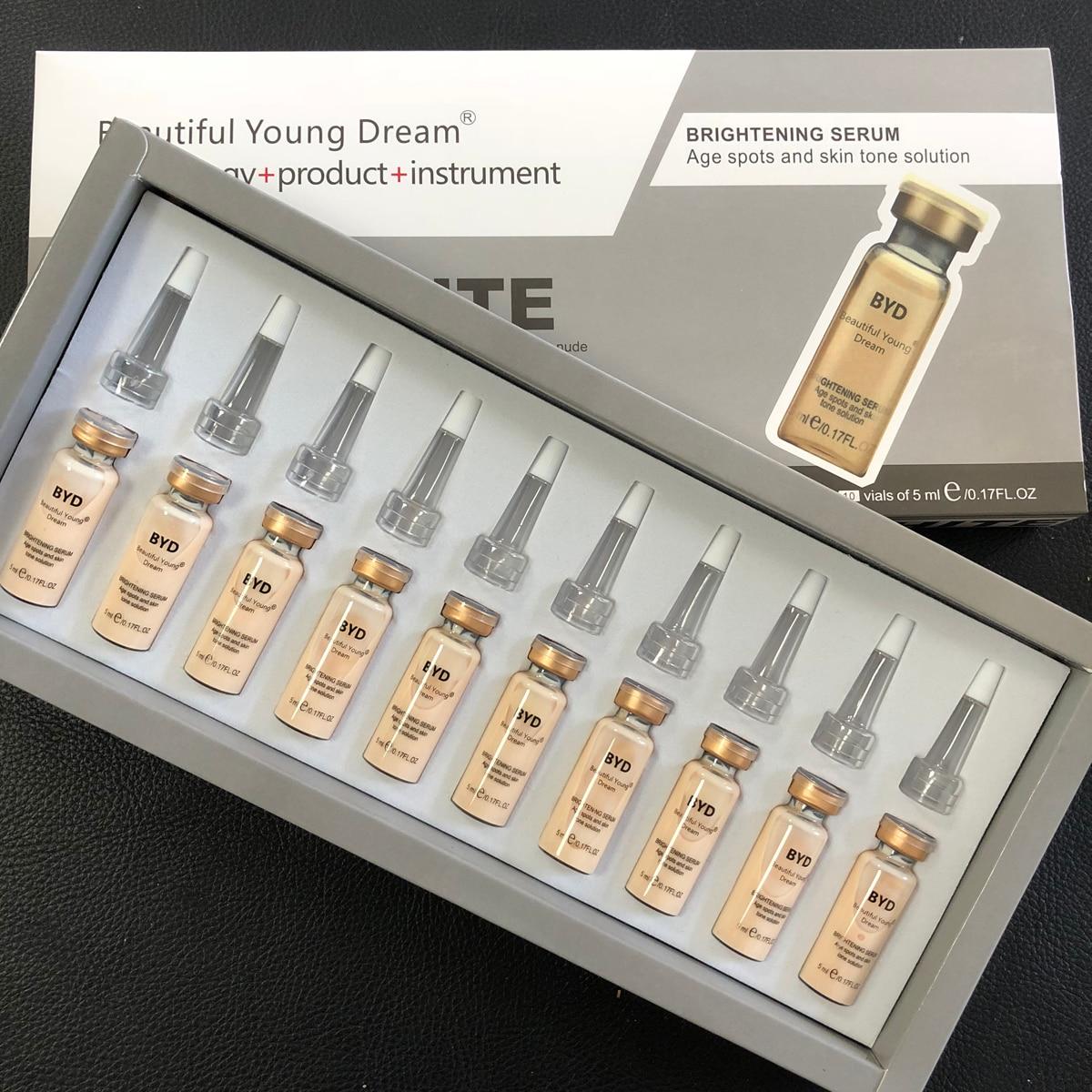 10pcs/set 5ml  Skin Glow Cream Meso White Brightening Serum Natural Nude Concealer Make Up BB Foundation