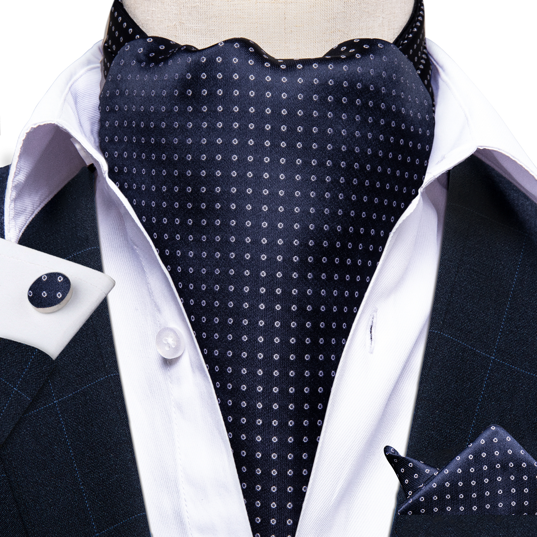 Mens Under Shirt Ascot Cravat Purple /& Navy Check