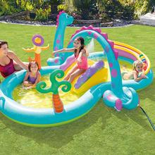 Inflatable Play Center Kids Inflatable Wading Pool Blow Up Water Center For Boys Girls Aged 3 And Up Outdoor Water Fun