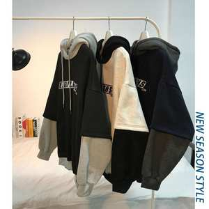 Hooded Men's Loose Korean-Style Students All-match Harajuku Style Autumn and Winter Clothes Brushed and Thick Hoodie