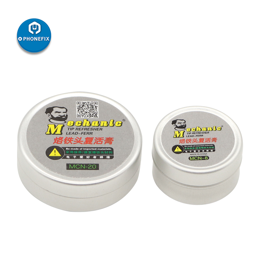 Mechanic Solder Paste Tip Refresher Lead-free Paste For Soldering Iron Tips Welding Head Cleaning Cream For PCB Soldering Repair