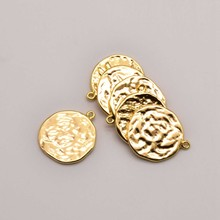 5 Pcs/Lot 17mm 18K Brass Gold Plated Dragonfly Pattern Tag Bulk Items Wholesale Lots For Making Necklace Jewelry JA0205