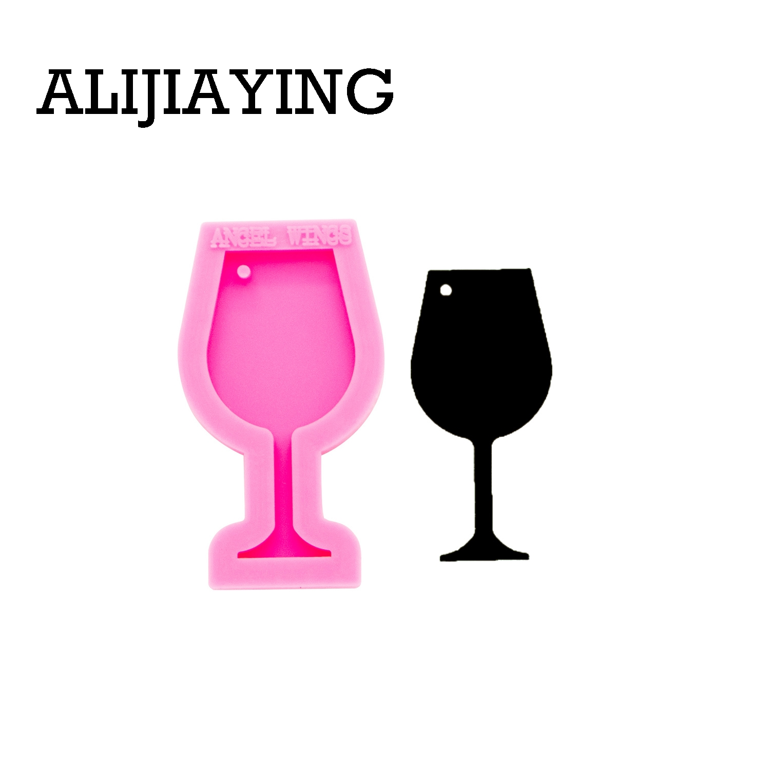 DY0257 Smooth Art Design Red Wine Glass Mold Craft Epoxy Resin DIY Mould Silicon Mold For Keychain Resin Jewelry