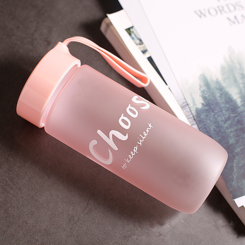 Hd38e03ee92aa486dac968cdb93a580cdr 590ML Portable Sport Camping Cycling Travel Plastic Juice Water Bottle Fashion Large Capacity Bottles Heat Resistant Bottle