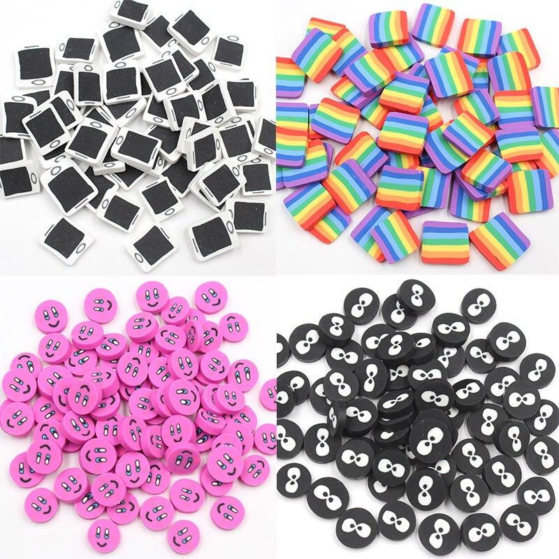 100 г/лот, полимерная глина, мобильные ломтики, радужные глаза, Горячая мягкая глина, поливальная глина для рукоделия, изготовление игрушек, а...
