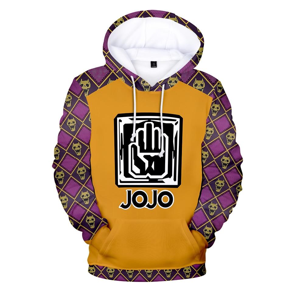 JoJo's Bizarre Adventure  Hoodies Sweatshirt Game Around Popular Casual Wear Anime Fans Youth Action Loose New