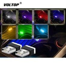 USB lumière LED voiture décoration intérieur Bling voiture accessoires pour filles tableau de bord ornement modifié voiture lampe ambiante