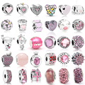 2 шт./лот, розовый цвет, прелести для любви, сделай сам, женский браслет, ювелирные изделия, подарки, подходит для прекрасного браслета, ювелир...
