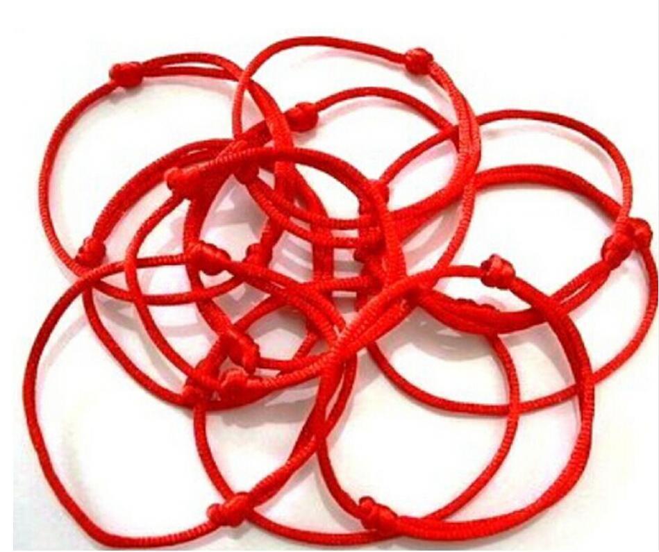 Luck Bracelet! 12pcs KABBALAH HAND Made Red and Black String Good Lucky Bracelet Kabala Protection Men Women Jewelry Gifts