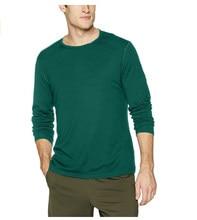 2020 homens 100% merino lã t camisa de manga longa camada de base masculina merino lã camisa wicking respirável anti-odor tamanho S-XXL